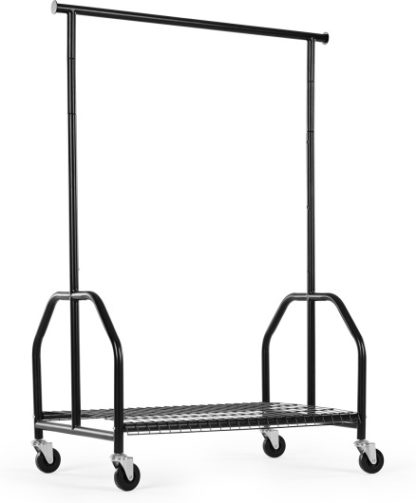 An Image of MADE Essentials Moss Garment Rack, Black