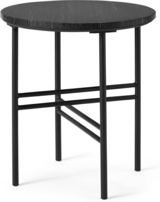 An Image of Ailish Round Side Table, Black Marble