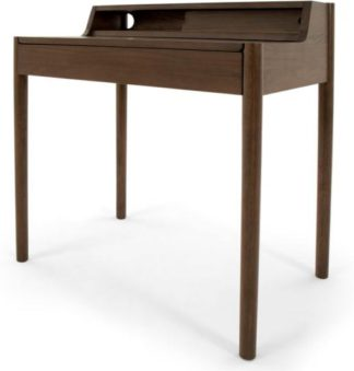 An Image of Leonie Compact Desk, Dark Stain Oak