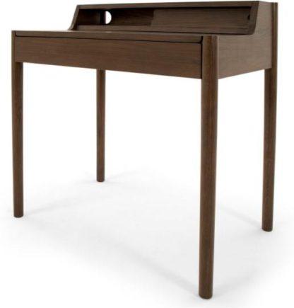 An Image of Leonie Compact Desk, Dark Stain Oak