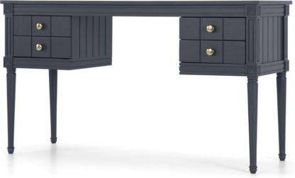 An Image of Bourbon Vintage Desk, Slate Blue