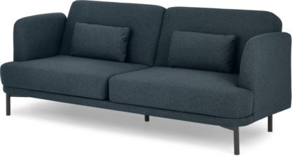 An Image of Herman Click Clack Sofa Bed, Aegean Blue