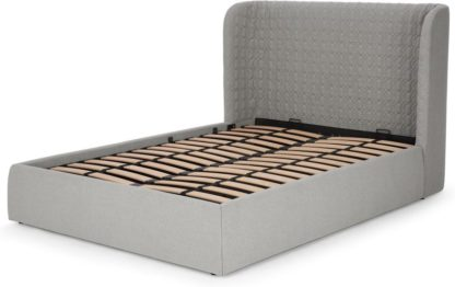 An Image of Tandy King Size Ottoman Storage Bed, Cool Grey