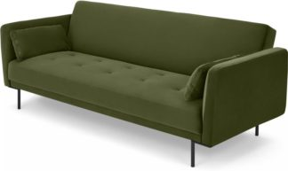 An Image of Harlow Click Clack Sofa Bed, Sycamore Green Velvet