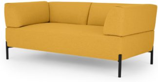 An Image of MADE Essentials Kiva 2 Seater Sofa, Yolk Yellow