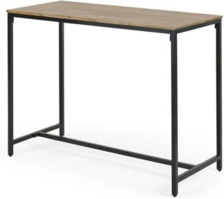 An Image of Lomond 4 Seat Bar Table, Mango wood and Black