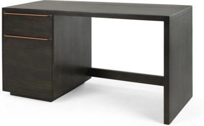 An Image of Anderson Desk, Mocha Mango Wood and Copper