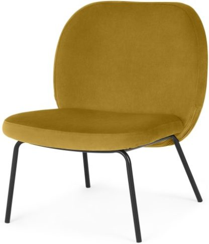 An Image of Safia Accent Armchair, Vintage Gold Velvet