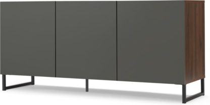An Image of Hopkins Large Sideboard, Walnut Effect & Grey