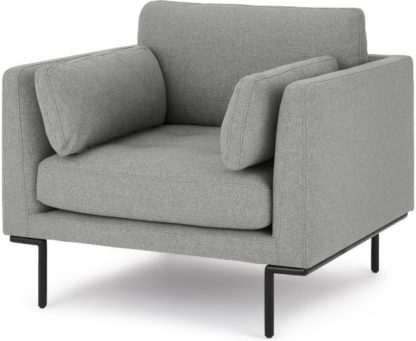 An Image of Harlow Armchair, Mountain Grey