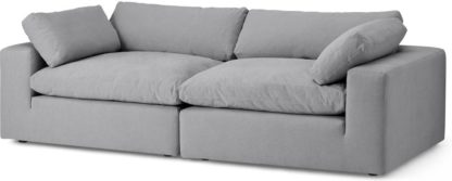 An Image of Samona 3 Seater Sofa, Mineral Cotton & Linen Mix