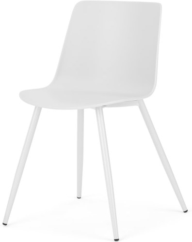 An Image of MADE Essentials Newel Dining Chair, White