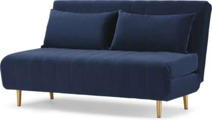 An Image of Bessie Large Double Sofa Bed, Royal Blue Velvet