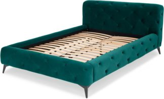 An Image of Sloan King Size Bed, Seafoam Blue Velvet