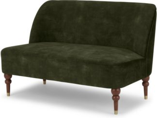 An Image of Harpo 2 Seater Sofa, Evergreen Velvet
