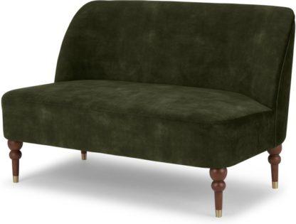 An Image of Harpo 2 Seater Sofa, Evergreen Velvet