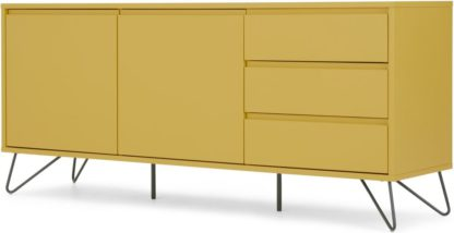 An Image of Elona Sideboard, Yellow and charcoal