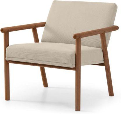 An Image of Quiet Accent Armchair, Stone Micro Corduroy Velvet