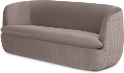 An Image of Tandy Large 2 Seater Sofa, Soft Mauve Velvet