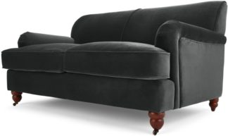 An Image of Orson 2 Seater Sofa, Midnight Grey Velvet