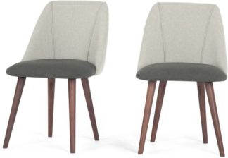 An Image of Set of 2 Lule Dining Chairs, Marl and Hail Grey