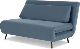 An Image of Kahlo Large Sofa Bed, Arctic Blue Velvet