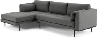 An Image of Harlow Left Hand Facing Chaise End Sofa, Elite Grey