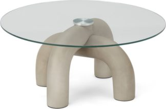 An Image of Babette Coffee table, Concrete & Glass