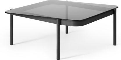 An Image of Chotto Coffee Table, Black & Smoked Glass
