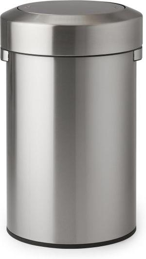 An Image of Muhos 70L Swing Top Bin, Silver