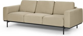 An Image of Jarrod 3 Seater Sofa, Plush Taupe Velvet