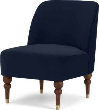 An Image of Harpo Accent Chair, Interstellar Blue Velvet