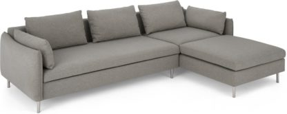 An Image of Vento Right Hand Facing Chaise End Sofa Bed, Manhattan Grey