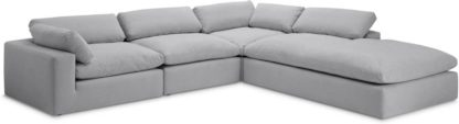 An Image of Samona Right Hand Facing Full Corner Sofa, Mineral Cotton & Linen Mix