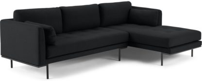 An Image of Harlow Right Hand Facing Chaise End Sofa, Elite Slate