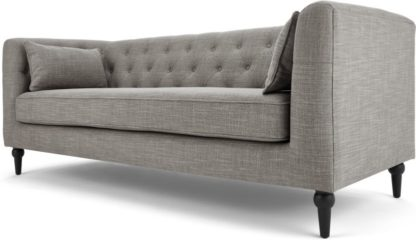 An Image of Flynn 3 Seater Sofa, Grey Linen Mix