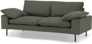 An Image of Fallyn Large 2 Seater Sofa, Nubuck Loden Leather