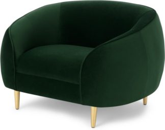 An Image of Trudy Armchair, Pine Green Velvet