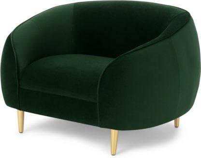 An Image of Trudy Armchair, Pine Green Velvet
