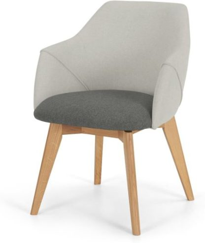 An Image of Lule Office Chair, Marl grey and Hail Grey and oak