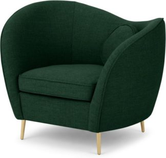 An Image of Kooper Accent Armchair, Forest Green Weave