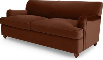 An Image of Orson Sofa Bed, Warm Caramel Velvet