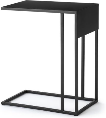 An Image of MADE Essentials Emira Laptop Side Table, Black