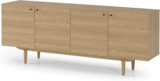 An Image of MADE Essentials Asger Wide Sideboard, Oak Effect