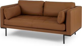 An Image of Harlow Large 2 Seater Sofa, Denver Tan Leather