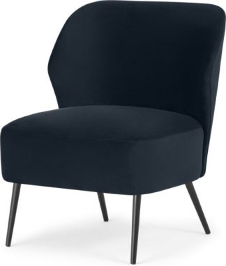 An Image of Topeka Accent Armchair, Twilight Blue Velvet