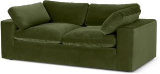 An Image of Samona 2.5 Seater Sofa, Pistachio Green Velvet