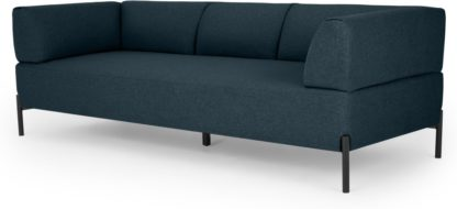 An Image of MADE Essentials Kiva 3 Seater Sofa, Aegean Blue