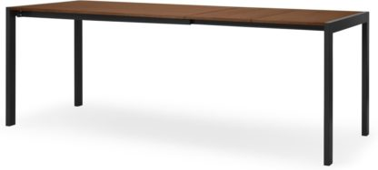 An Image of Swift 4-8 Seat Dining Table, Walnut & Black