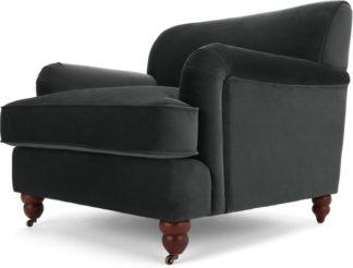 An Image of Orson Armchair, Midnight Grey Velvet